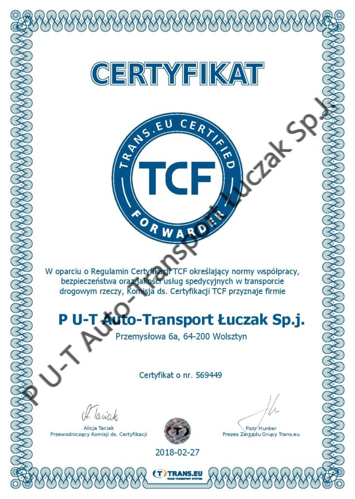 Trans.eu Certified Forwarder